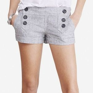 Express linen sailor shorts